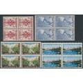 AUSTRALIA - 1956 Melbourne Olympics set of 4 in blocks of 4, MNH – SG # 290-293