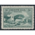 AUSTRALIA - 1932 5/- blue-green Sydney Harbour Bridge, CTO – SG # 143