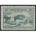 AUSTRALIA - 1932 5/- blue-green Sydney Harbour Bridge, mint hinged – SG # 143
