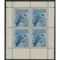 AUSTRALIA - 1928 3d blue Kookaburra M/S, mint never hinged – SG # MS106a