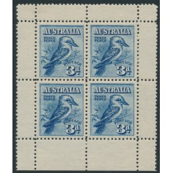 AUSTRALIA - 1928 3d blue Kookaburra M/S, mint never hinged – SG # MS106a