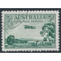 AUSTRALIA - 1929 3d green Airmail (horizontal mesh paper), CTO – ACSC # 135w