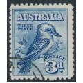 AUSTRALIA - 1928 3d blue Kookaburra, CTO – SG # 106