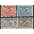 AUSTRALIA - 1931 2d to 6d Kingsford Smith Airmail set of 4, MH – SG # 121-123 + 139