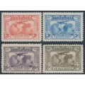 AUSTRALIA - 1931 2d to 6d Kingsford Smith Airmail set of 4, MNH – SG # 121-123 + 139