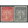 AUSTRALIA - 1935 ANZAC Anniversary set of 2, mint never hinged – SG # 154-155
