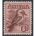 AUSTRALIA - 1914 6d maroon engraved Kookaburra, MH – ACSC # 60A