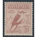 AUSTRALIA - 1932 6d red-brown Kookaburra, mint never hinged – SG # 146