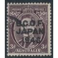 AUSTRALIA - 1946 3d dark brown KGVI overprinted BCOF, used – SG # J3