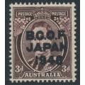 AUSTRALIA - 1946 3d dark brown KGVI overprinted BCOF, MNH – SG # J3