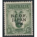 AUSTRALIA - 1946 1/- dull green Lyrebird overprinted BCOF, MNH – SG # J5