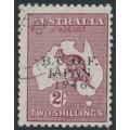 AUSTRALIA - 1946 2/- maroon Kangaroo overprinted BCOF, used – SG # J6