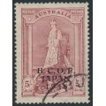 AUSTRALIA - 1946 5/- claret Robes on thick paper overprinted BCOF, used – SG # J7