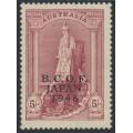 AUSTRALIA - 1946 5/- claret Robes on thick paper overprinted BCOF, MNH – SG # J7