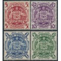 AUSTRALIA - 1949-1950 5/- to £2 Coat of Arms set of 4, MNH – SG # 224a-224d