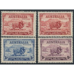 AUSTRALIA - 1934 2d to 9d MacArthur Centenary set of 4, MNH – SG # 150-152+150a