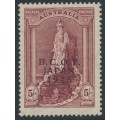 AUSTRALIA - 1948 5/- claret Robes on thin paper overprinted BCOF, MNH – SG # J7a