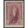 AUSTRALIA - 1948 5/- claret Robes on thin paper overprinted BCOF, MH – SG # J7a