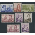 AUSTRALIA - 1963-1965 4/- to £2 Navigators set of 8, MNH – SG # 355-360 + 358a + 359a