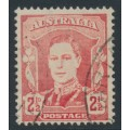 AUSTRALIA - 1942 2½d scarlet KGVI definitive, 'white face', used – ACSC # 230c