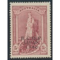 AUSTRALIA - 1946 5/- claret Robes on thick paper overprinted BCOF, MH – SG # J7