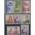 AUSTRALIA - 1963-1965 4/- to £2 Navigators set of 8, MH – SG # 355-360 + 358a + 359a