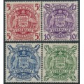 AUSTRALIA - 1949-1950 5/- to £2 Coat of Arms set of 4, MH – SG # 224a-224d