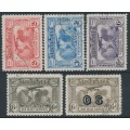 AUSTRALIA - 1931 2d to 6d Kingsford Smith Airmail set of 5, CTO – SG # 121-123 + 139 + 139a