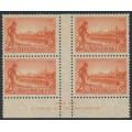 AUSTRALIA - 1934 2d red Victoria, perf. 10½, imprint block of 4, MH – SG # 147