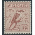 AUSTRALIA - 1932 6d red-brown Kookaburra, MNH – SG # 146