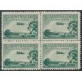 AUSTRALIA - 1929 3d green Airmail booklet block of 4, MNH – ACSC # 136c