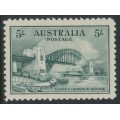 AUSTRALIA - 1932 5/- blue-green Sydney Harbour Bridge, mint never hinged – SG # 143