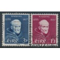 IRELAND - 1957 Father Luke Wadding set of 2, used – SG # 170-171