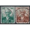 IRELAND - 1958 Thomas J. Clarke set of 2, used – SG # 172-173