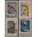 RUSSIA / USSR - 1948 50th Death Anniversary of Shishkin set of 4, used – Michel # 1220-1223