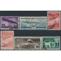 RUSSIA - 1931 10K to 1R Zeppelin Construction set of 5 perf. 12½, used – Michel # 397-401