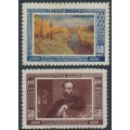 RUSSIA / USSR - 1950 Anniversary of the Death of Issac Levitan set of 2, MNH – Michel # 1525-1526