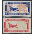RUSSIA / USSR - 1927 International Airmail Conference in The Hague set of 2, MH – Michel # 326-327
