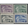 RUSSIA / USSR - 1931 Polar Flight of the Graf Zeppelin set of 4, imperforate, MH – Michel # 402B-405B