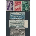 RUSSIA / USSR - 1931 10K to 1R Zeppelin Construction set of 6, used – Michel # 397-401 + 406