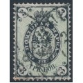 RUSSIA - 1865 3K black/green Coat of Arms, perf. 14½:15, thick paper, used – Michel # 13z