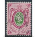 RUSSIA - 1865 30Kop pink/green Coat of Arms, perf. 14½:15, no watermark, used – Michel # 17y