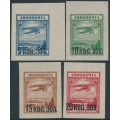RUSSIA / USSR - 1924 Airmail overprints set of 4, MNH – Michel # 267-270