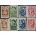 RUSSIA / USSR - 1923 Agriculture sets of 4, perf. & imperf., MH – Michel # 225A + 224B-227B + 224C-227C