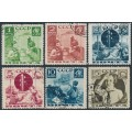 RUSSIA / USSR - 1936 Pioneer Organisation set of 6, perf. 11, used – Michel # 542A-547A