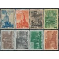 RUSSIA / USSR - 1950 Moscow Skyscrapers set of 8, MNH – Michel # 1527-1534