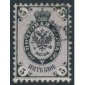 RUSSIA - 1864 5Kop black/violet Coat of Arms, perf. 12¼:12½, no watermark, used – Michel # 11