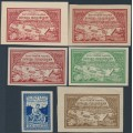 RUSSIA - 1921 Volga Hunger Relief set of 4 with different paper types, MH – Michel # 165-168