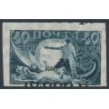 RUSSIA - 1922 10000R in black on 40R blue, misplaced overprint, MH – Michel # 175IXa