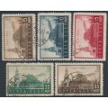 RUSSIA / USSR - 1934 5K to 35K Lenin Mausoleum set of 5, used – Michel # 467-471
